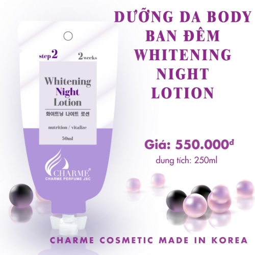 DƯỠNG DA BODY BAN NGÀY WHITENING NIGHT LOTION